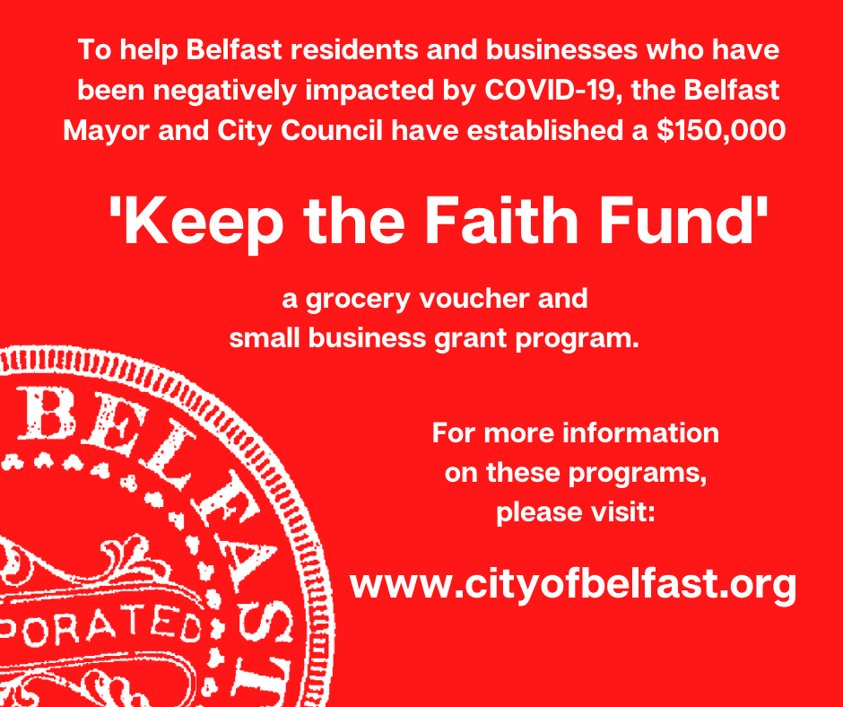 Red Belfast Keep the Faith Fund Program Sign